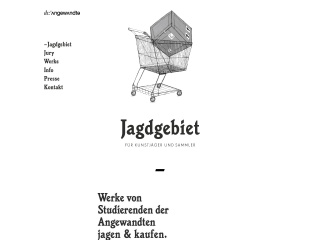 Screenshot der Website jagdgebiet.at