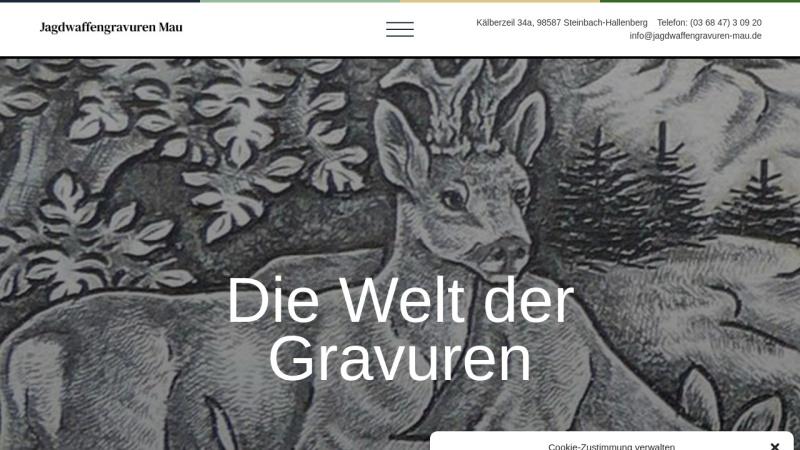 www.jagdwaffengravuren-mau.de Vorschau, Jagdwaffengravuren Kati Mau