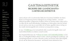 www.janaszek.de Vorschau, Glossar zur Garten- und Landschaftsarchitektur