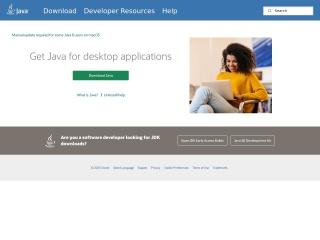 Captura de pantalla para java.com