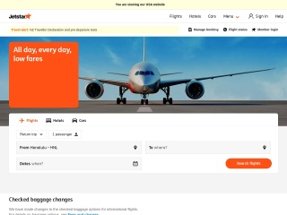 Screenshot for jetstar.com