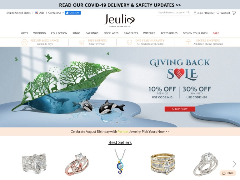 Jeulia Jewelry screenshot