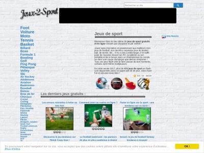Jeux 2 Sport : des centaines de jeux de sport en ligne.