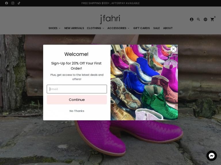 jfahri Coupon Codes screenshot