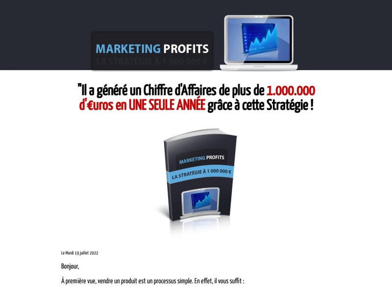 marketing profits la strategie a 1 million d'euros