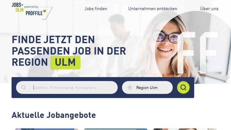 www.jobs-ulm.de Vorschau, Jobs-Ulm, Ulrich Guntram Palm e. K.