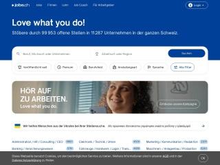 Screenshot der Website jobs.ch