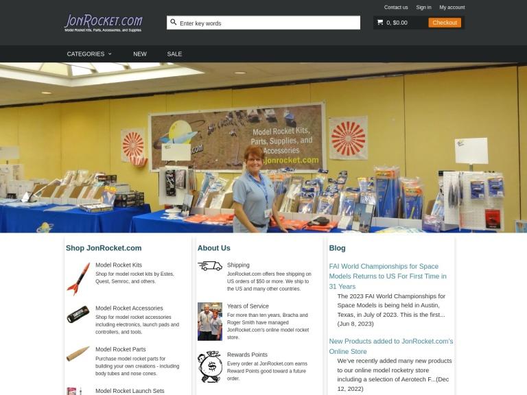 JonRocket.com screenshot