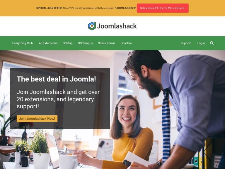 Joomlashack Coupon Codes screenshot