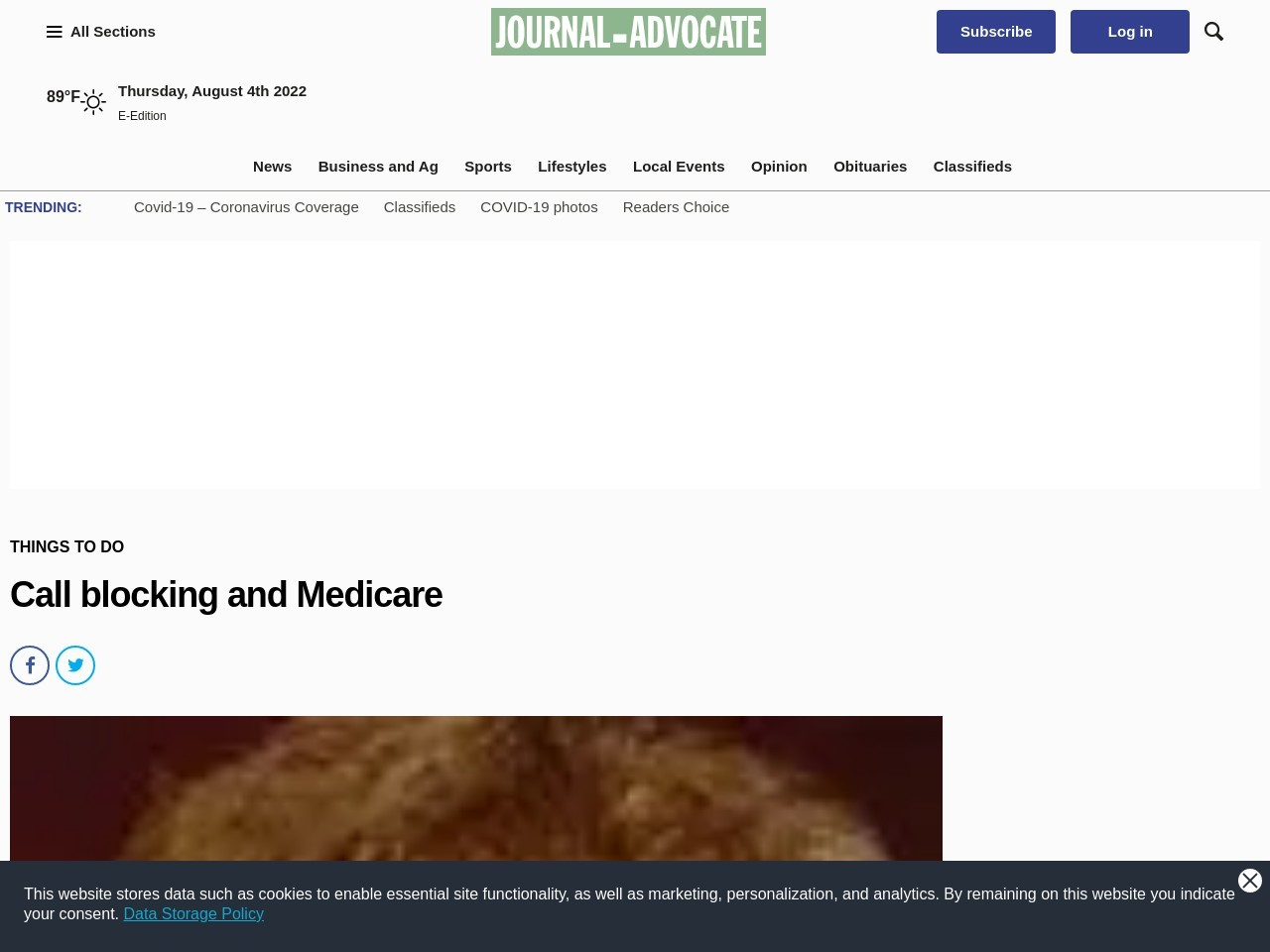 Call blocking and Medicare
