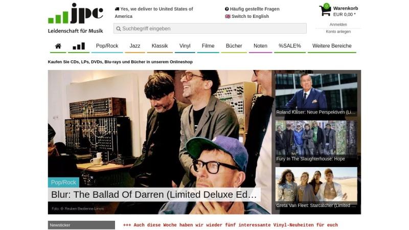 www.jpc.de Vorschau, JPC-Schallplatten Versandhandelsgesellschaft mbH