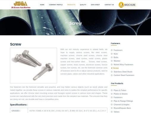 Screw Distributors  Authorized Distributors of Screw, Screw Importers