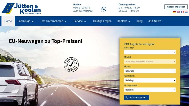 www.juetten-koolen.de Vorschau, Jütten & Koolen Automobile GmbH