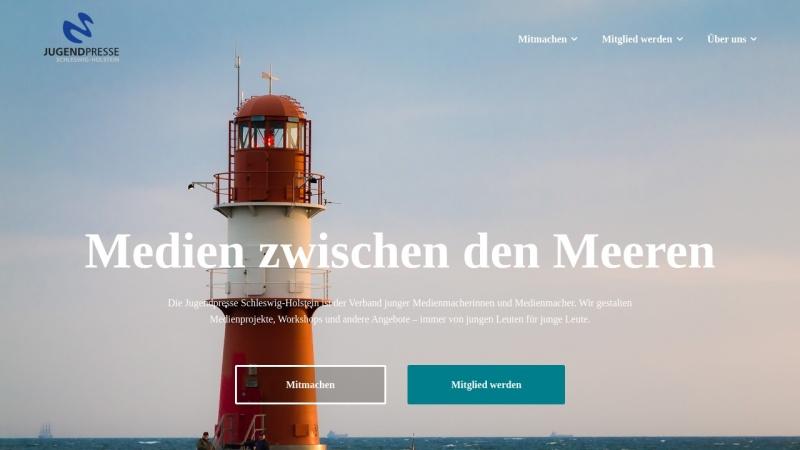 www.jugendpresse-sh.de Vorschau, Jugendpresse Schleswig-Holstein e.V.