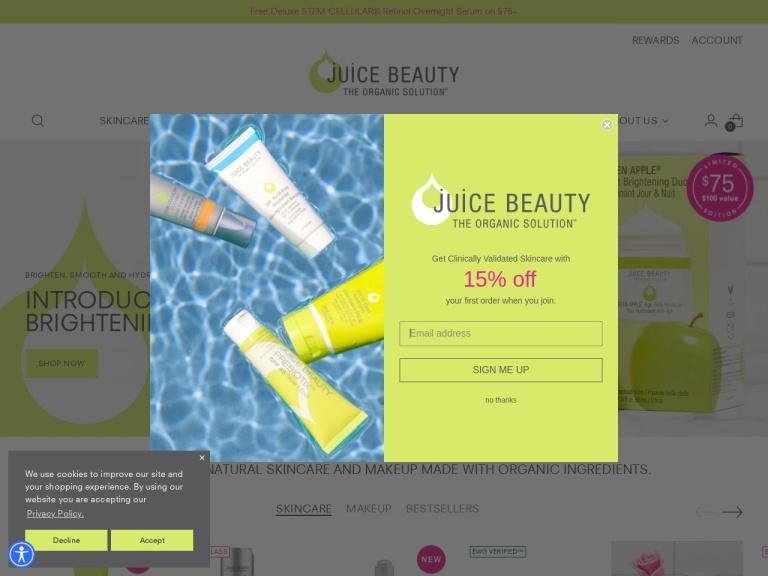 Juice Beauty screenshot