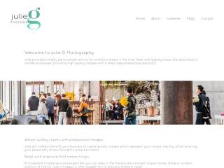 Screenshot for juliegphotography.com.au