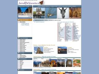 Screenshot al site-ului jurnaldevacanta.ro