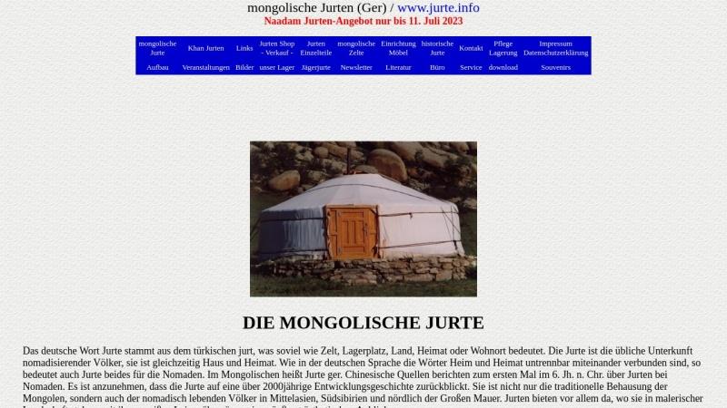 www.jurte.info Vorschau, Mongolische Jurte