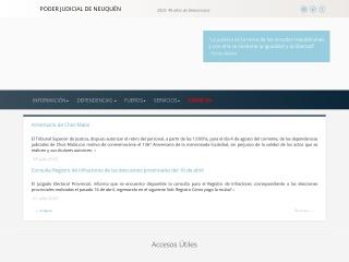Captura de pantalla para jusneuquen.gov.ar