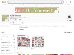 Justbyourself Etsy coupon codes April 2019