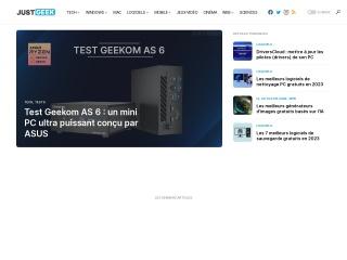 Capture d'écran pour justgeek.fr