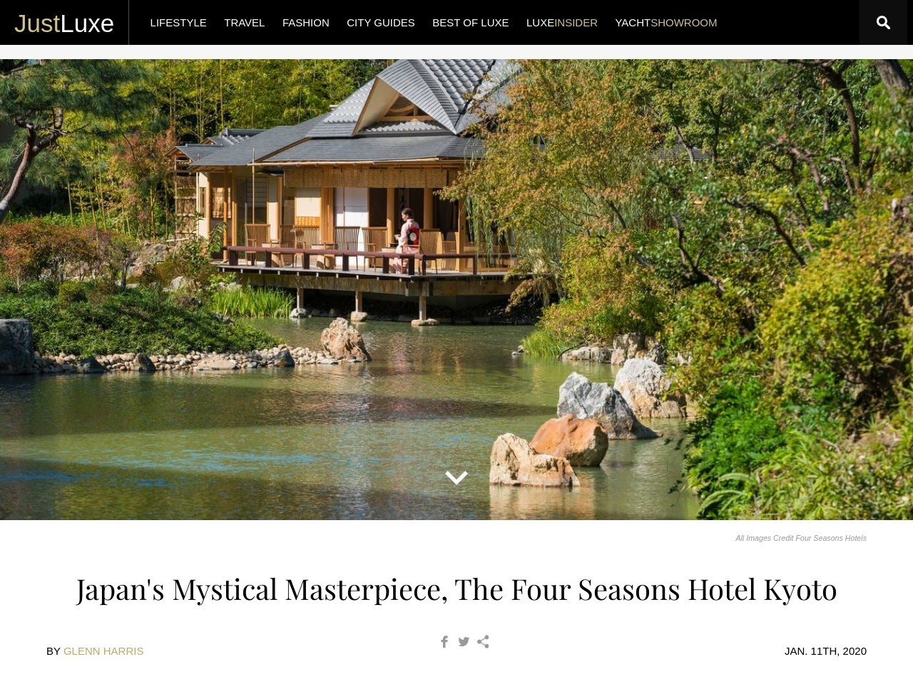 Japan's Mystical Masterpiece, The Four Seasons Hotel Kyoto
