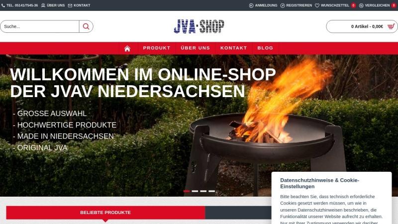 www.jva-online-shop.de Vorschau, JVA-Shop Niedersachsen