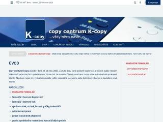 Snímek stránek pro k-copy.cz