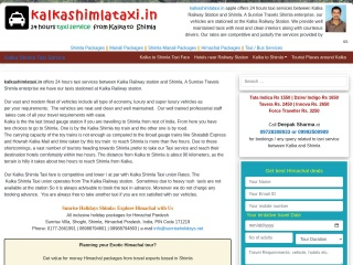 Screenshot for kalkashimlataxi.in