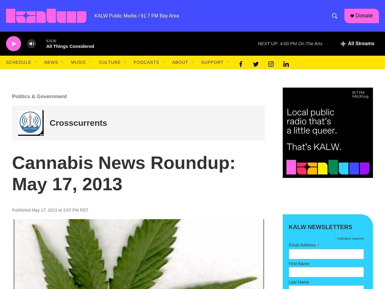 Cannabis News Roundup: May 17, 2013