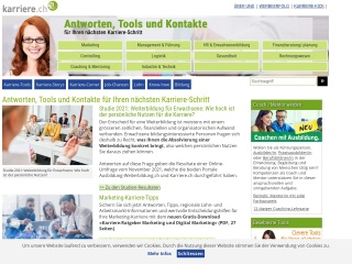 Screenshot der Website karriere.ch
