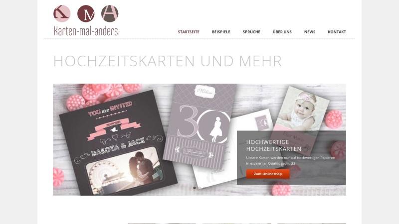 www.karten-mal-anders.de Vorschau, Hochzeitskarten von Karten-mal-anders