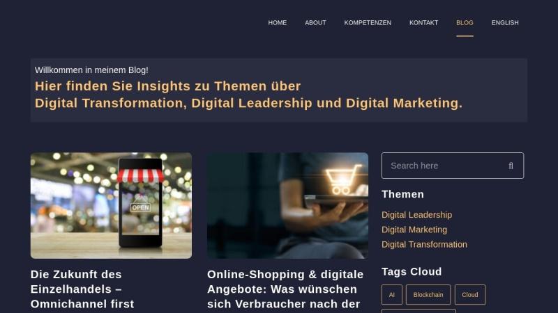 www.kathrinsiemokat.de Vorschau, Online Marketing Blog von Kathrin Siemokat