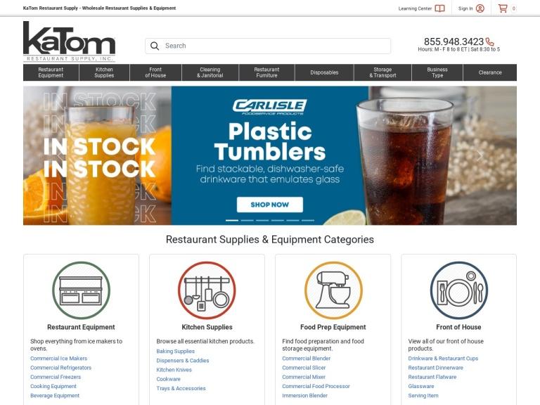 Katom.com - Kitchen And Restaurant Supplies screenshot