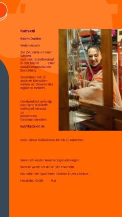 Vorschau der mobilen Webseite www.kattextil.de, Kattextil Textilkunstwerkstatt Katrin Dunker