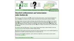 www.katze-oder-butter.de Vorschau, Katze oder Butter?