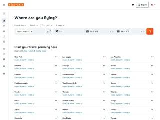 Capture d'écran pour kayak.com