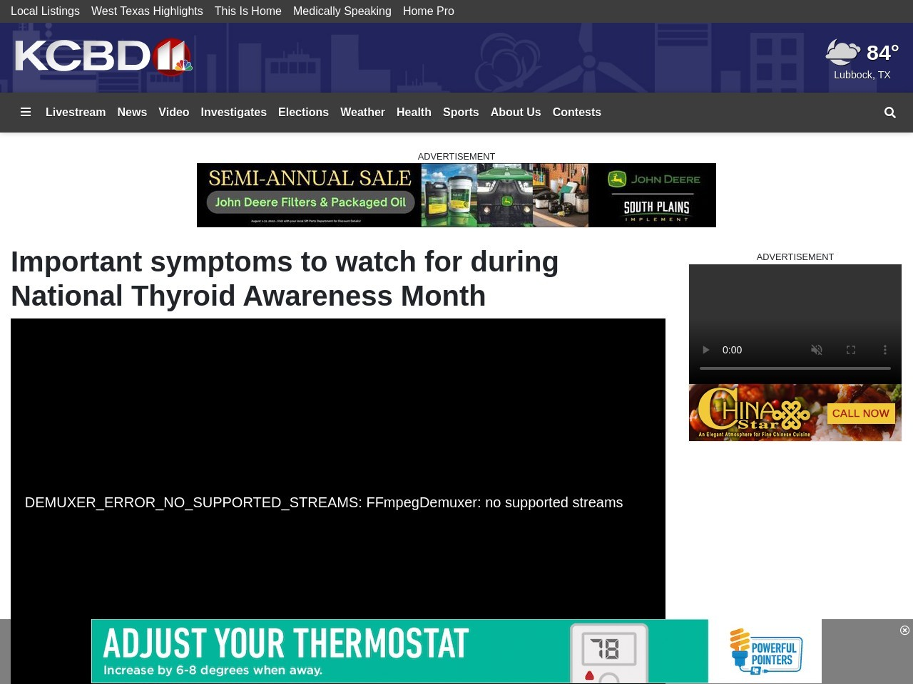 Important symptoms to watch for during National Thyroid Awareness Month