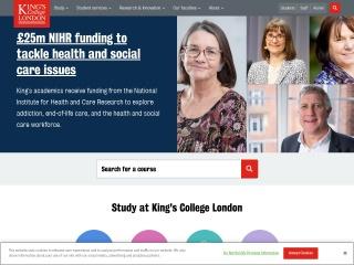 Screenshot for kcl.ac.uk