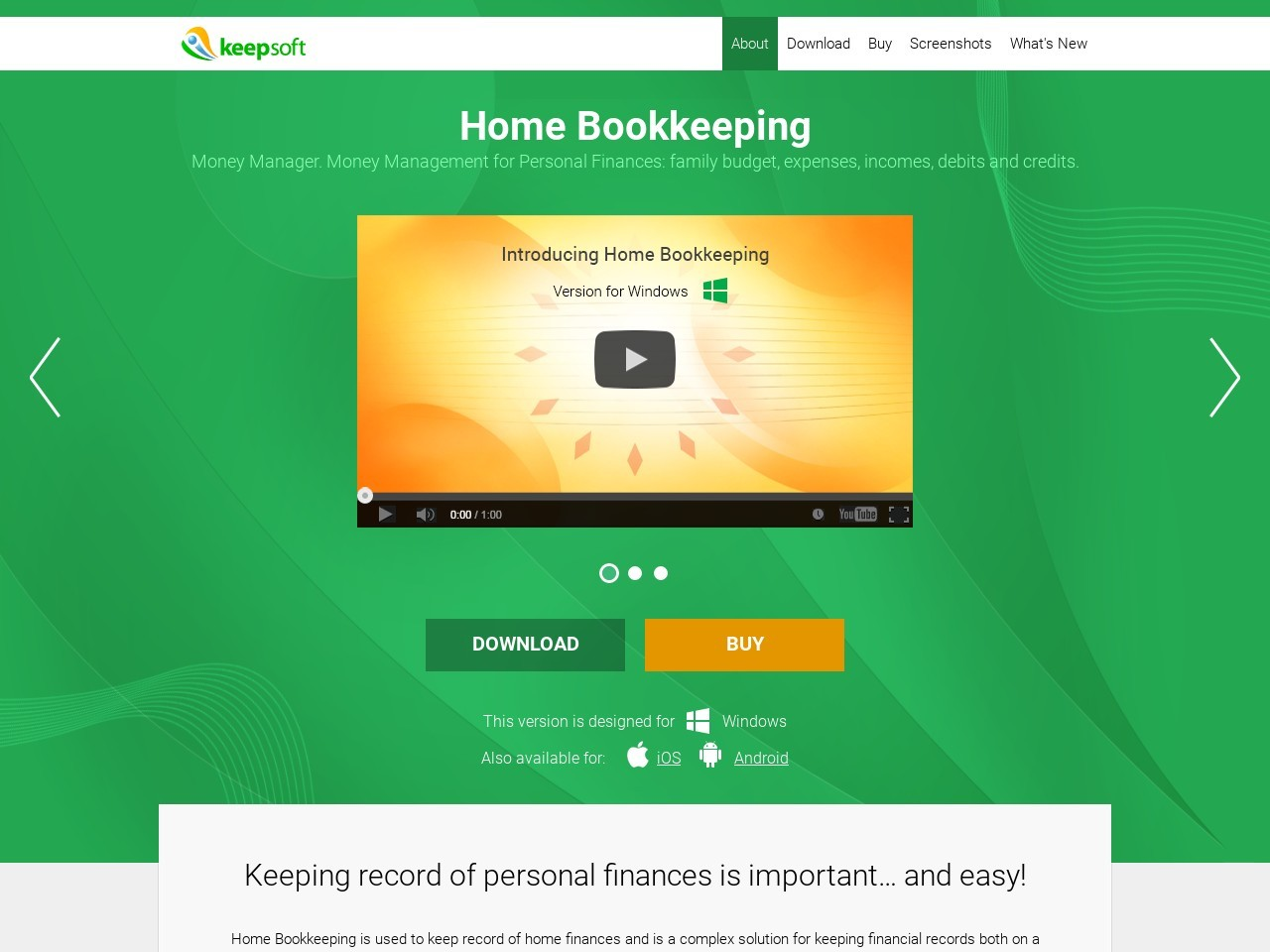 Home Bookkeeping for mobile devices