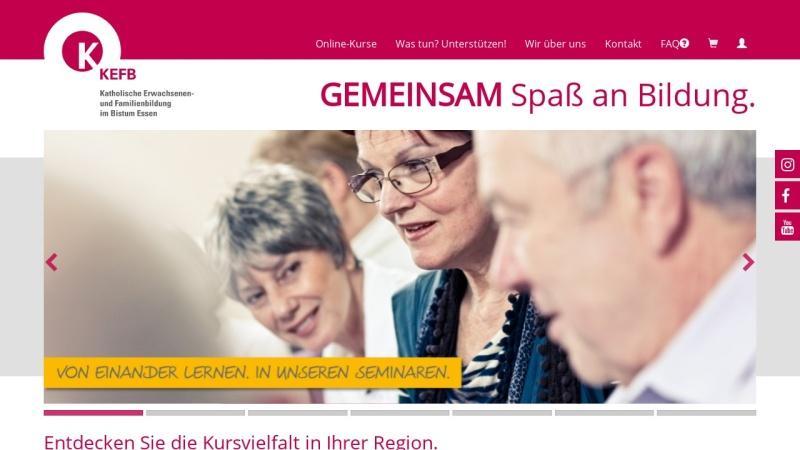www.kefb-bistum-essen.de Vorschau, Katholische Erwachsenen- und Familienbildung im Bistum Essen gGmbH