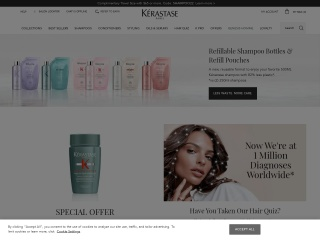 Screenshot for kerastase-usa.com