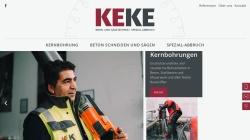 www.kernbohrung-saegetechnik.de Vorschau, KeKe Bohr- und Sägetechnik Spezial Abbruch GmbH
