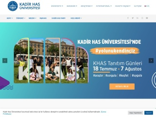 khas.edu.tr için Ekran Görüntüsü