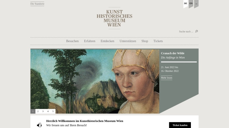 www.khm.at Vorschau, Wien, Kunsthistorisches Museum