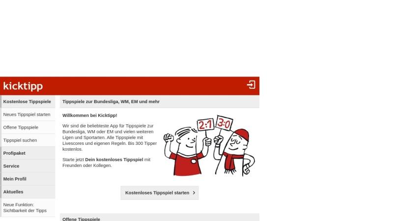 www.kicktipp.de Vorschau, Kicktipp.de