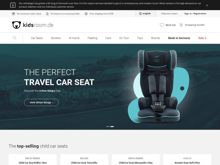 Kidsroom.de - Baby Products Online Store screenshot