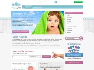 Screenshot voor kidzsite.be