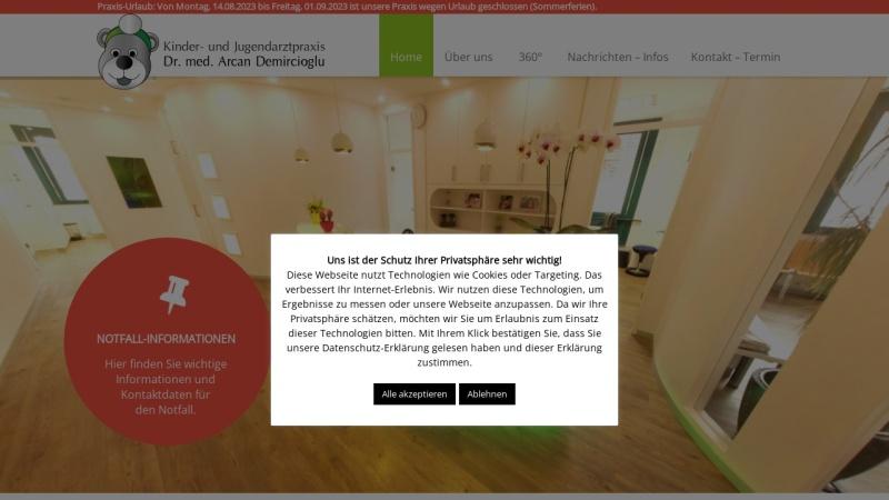 www.kinderarzt-neuperlach.de Vorschau, Arcan Demircioglu