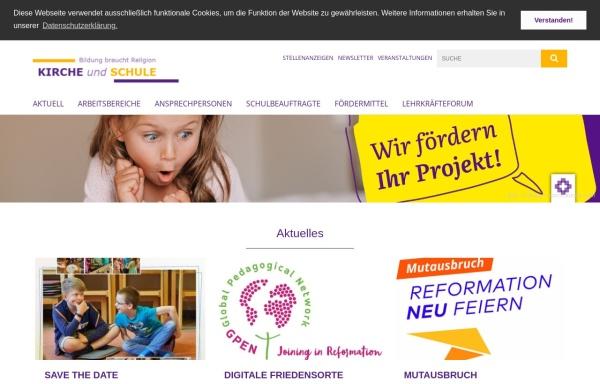 Vorschau von www.kirche-schule.de, Evangelisch-lutherische Landeskirche Hannovers, Kirche und Schule
